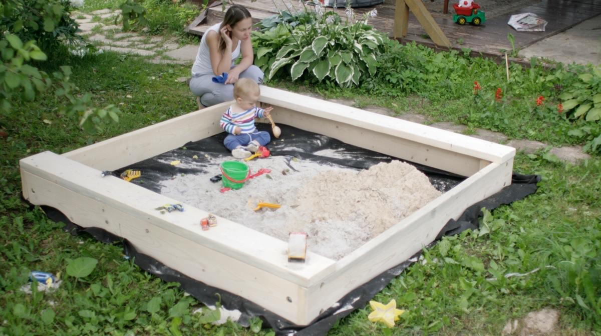 Песочница построить своими руками 590